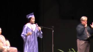 "Daniel singing ""Flying Without Wings"" at his 2012 Highschool Graduation (Ruben Studdard)"