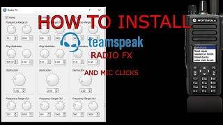 How To Install Radio FX And Mic Clicks Into TeamSpeak 2021