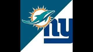 Miami Dolphins Vs. New York Giants Live Stream Play By Play & Reactions