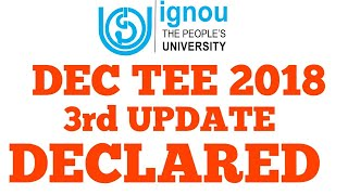 ignou third update of Dec term end exam results declared How to cal...