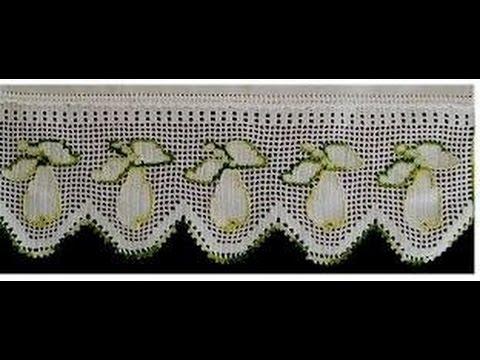 Cenefa de las peras parte 5 final youtube - Cenefas de crochet ...