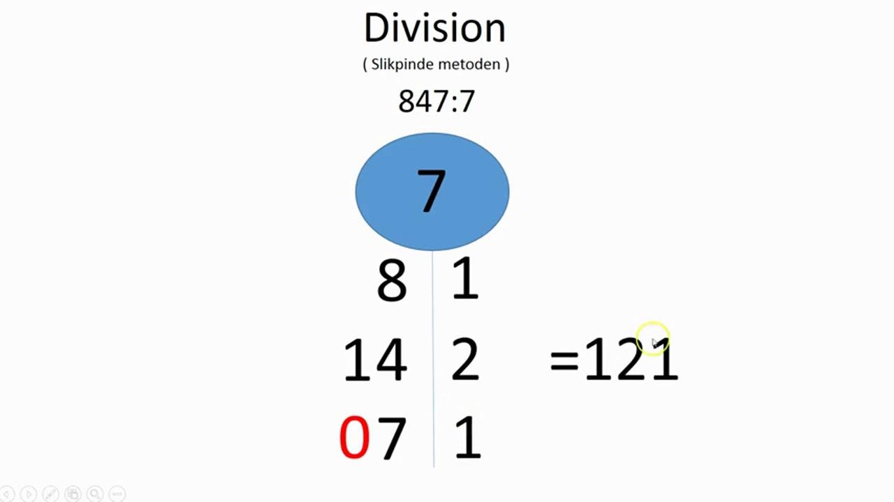 Division Slikpinde metoden