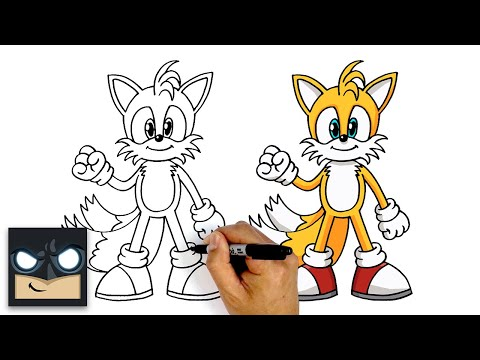 How To Draw Miles Tails Prower | Sonic The Hedgehog