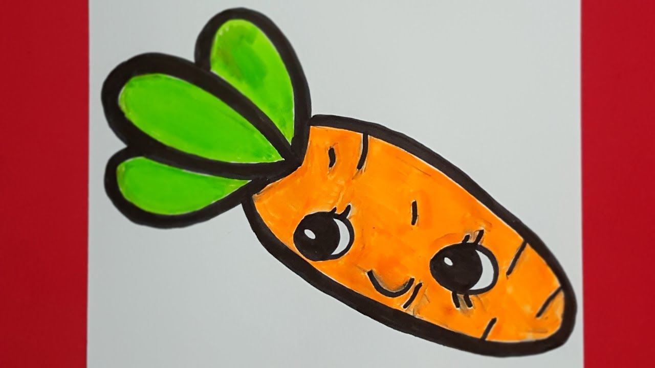 تعليم الرسم للمبتدئين كيف ترسم جزرة How To Draw A Carrot Easy