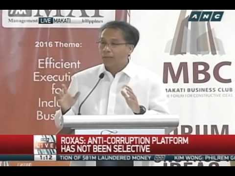 2016 MBC-MAP Presidential Dialogues | Mar Roxas