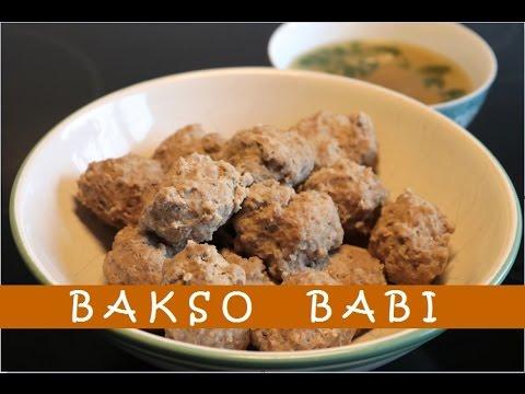 Resep Bakso Babi Enak Delicious Pork Meatballs Recipe