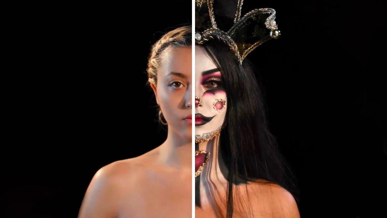 Harlequin Makeup Halloween Tutorial