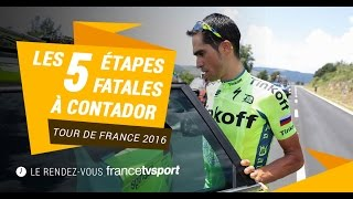 De sa chute à son abandon, le Tour de Contador en 5 étapes