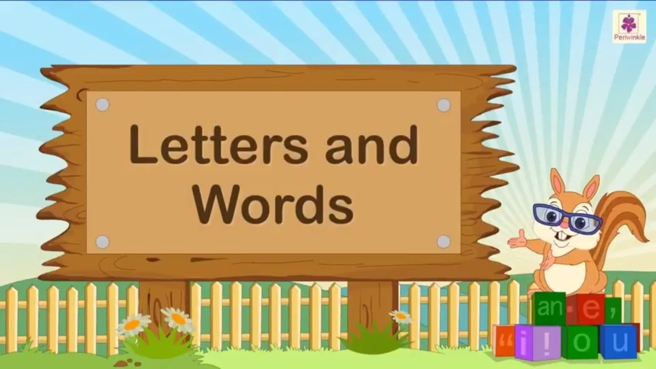 Creating English Words From Letters For Kids English Grammar