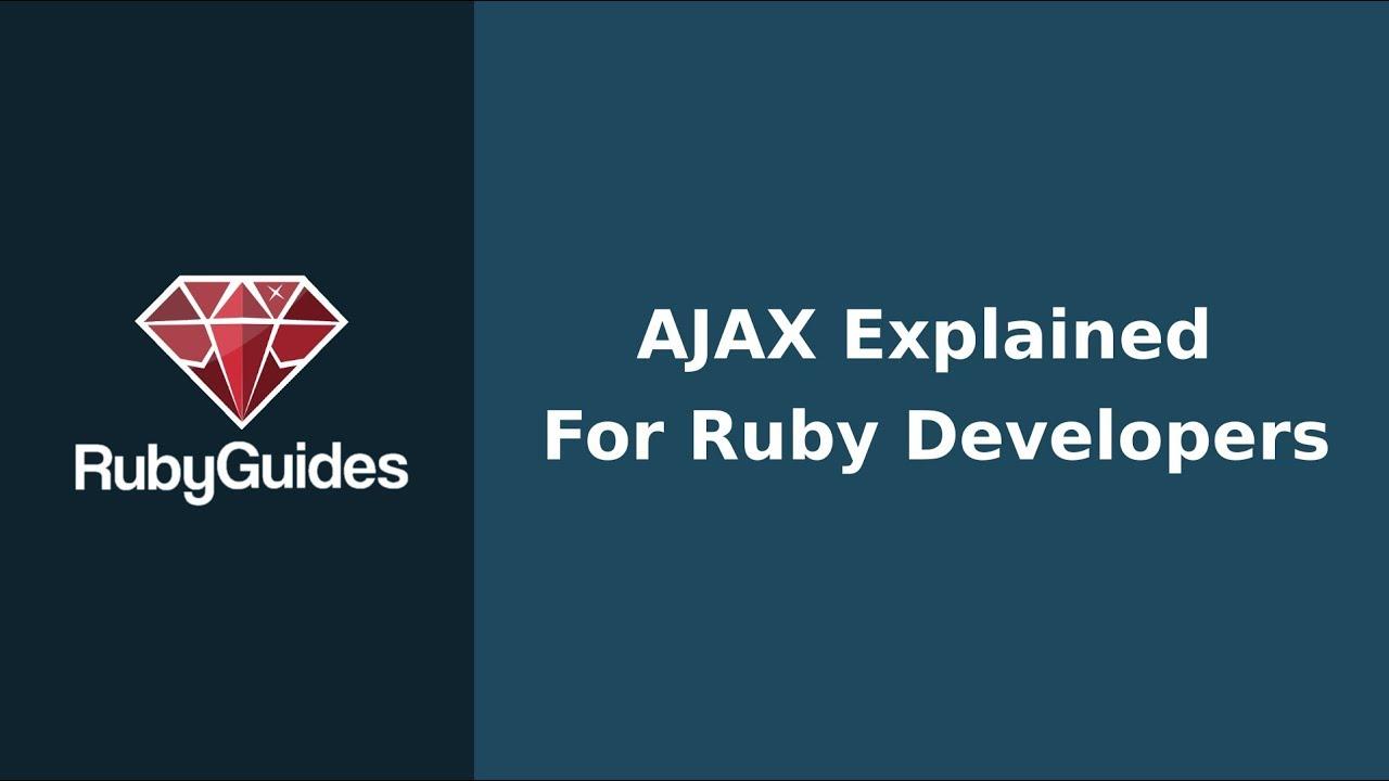 Download AJAX Explained For Ruby Developers
