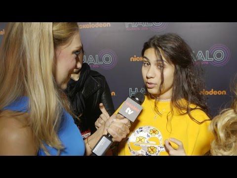 Alessia Cara Interview 2016 Nickelodeon HALO Awards Orange Carpet