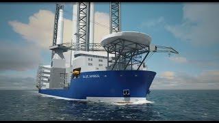 Wind Turbine Installation Vessel BLUE AMBER