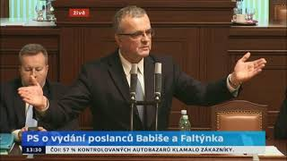 Přenos z poslanecké sněmovny 19.1.2018