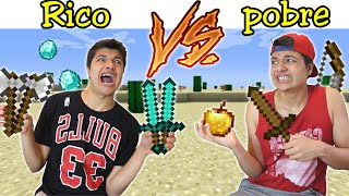 RICO VS POBRE NA ESCOLA #56 - NO MINECRAFT SKYBLOCK !!