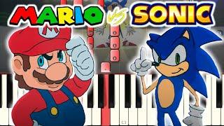Mario Vs Sonic - Verbalase [Piano Tutorial]