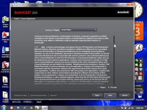 AutoCAD 2012 Product Installation
