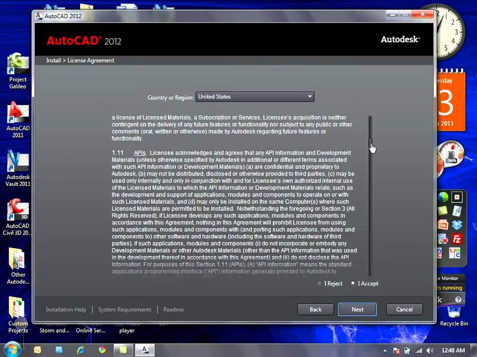 AutoCAD 2012 Product Installation   YouTube