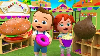 Food for Kids - Learn Food Names for Children with Little Babies Fun Play 3D Kids Educational Videos