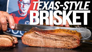 TEXAS STYLE SMOKED BRISKET AT HOME | SAM THE COOKING GUY 4K
