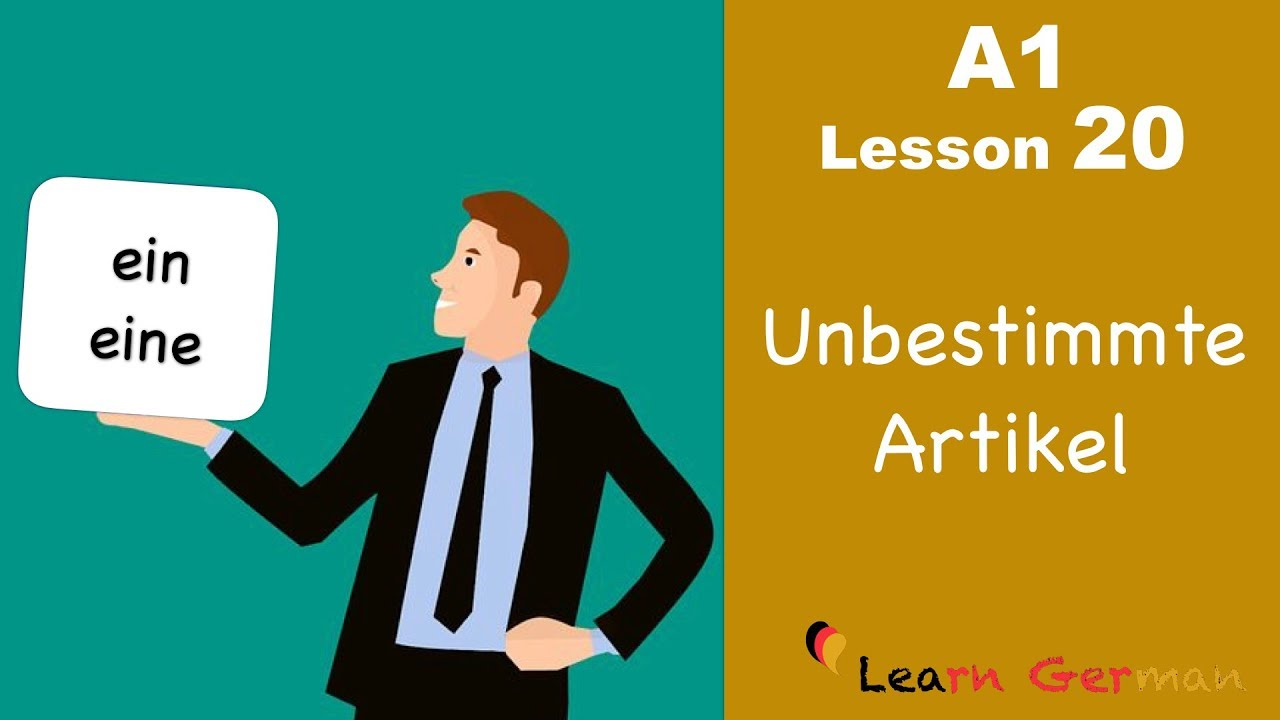 Learn German | Articles | unbestimmte Artikel | ein, eine | German for beginners | A1 - Lesson 20
