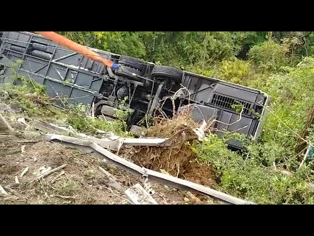 В Италии перевернулся автобус с туристами из России