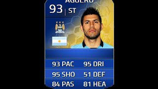 FIFA 14 TOTS AGUERO 93 Player Review & In Game Stats Ultimate Team