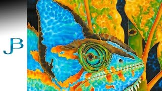 Painting Silk: how to paint a Chameleon - Fine - Art - Tips