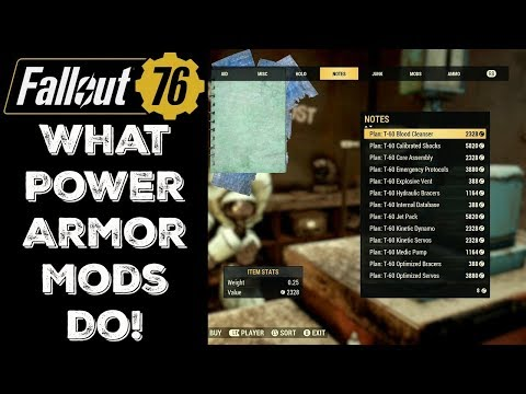 Fallout 76: Power Armor and Mods - Guide | GamesCrack org