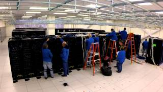 CRAY Supercomputer Install - Time Lapse