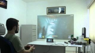 Jogando Battlefield 3 com Tablet e projetor
