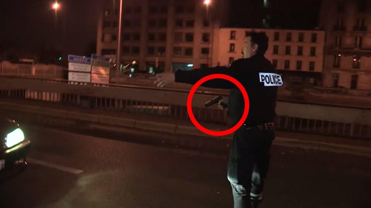 """IL """"DRIFT"""" DEVANT LA POLICE"""
