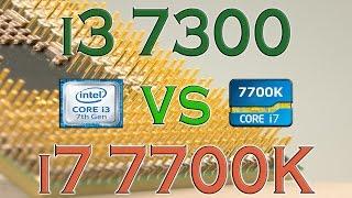 i3 7300 vs i7 7700k benchmarks gaming tests review and comparison kaby lake kaby lake