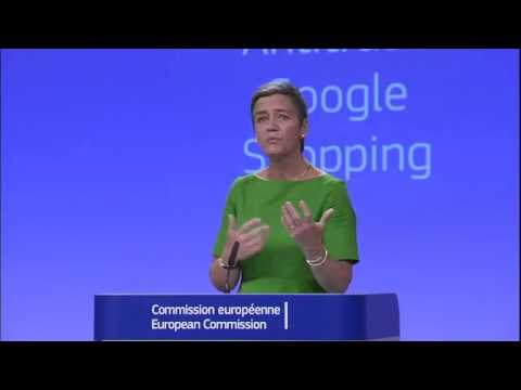 Google fined €2.42 billion by EU, Press conference and Q&A by Margrethe Vestager