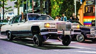 【GW渋谷ジャック】数十台のアメ車がGWの渋谷に集結しパフォーマンス!!/Tokyo Lowrider