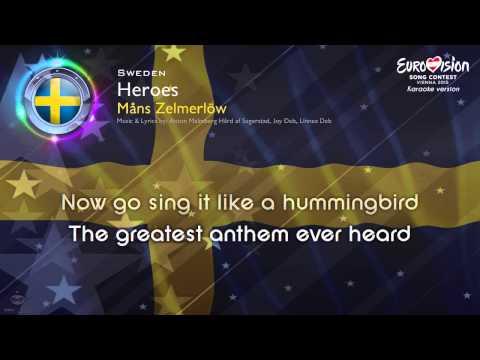 """[2015] Måns Zelmerlöw - """"Heroes"""" (Sweden) - [Karaoke verion]"""