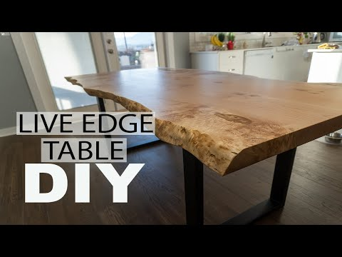 How To Build A Simple Yet Elegent Live Edge Dining Table | DIY