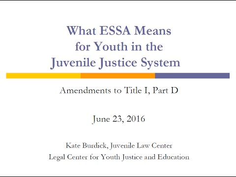 ESSA provisions for Juvenile Justice-involved youth with disabilities