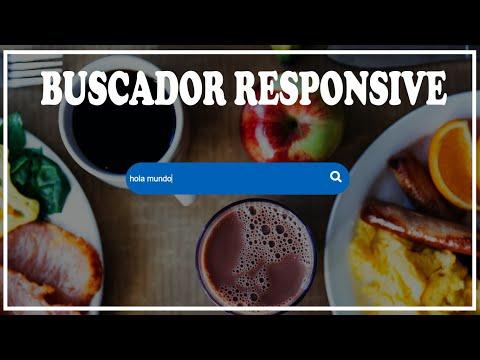 como hacer un buscador responsive con html y css