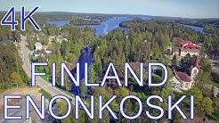 Finland Above Enonkoski ilmasta 4K  DJI Phantom 3 Pro