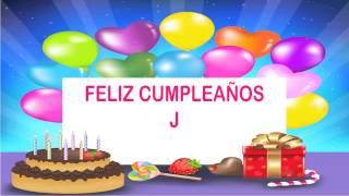J Birthday Wishes & Mensajes