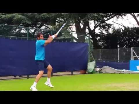 David Marrero - Aegon Open 2015 Nottingham practice court