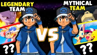 Ash's Legendary Pokemon Team VS Mythical Pokémon Team|Pokemon In Hindi