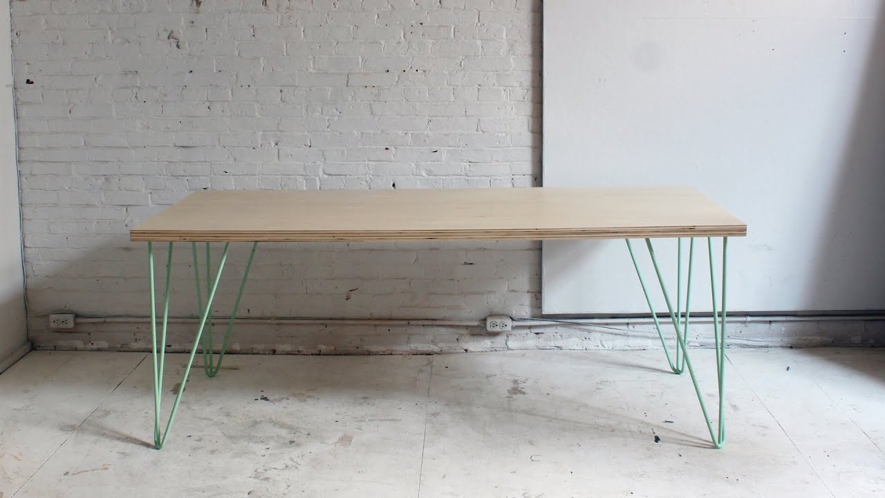 the easy diy dining table - youtube