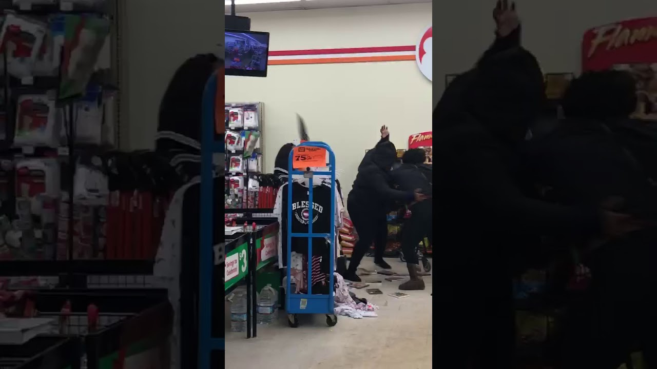 Family Dollar Fight on Dexter