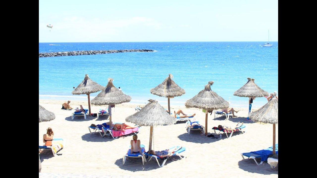 Playa de Las Americas Tenerife Beach resort nightlife YouTube