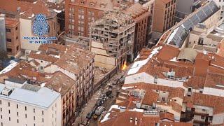 Imágenes áreas de la calle Toledo de Madrid tras una explosión