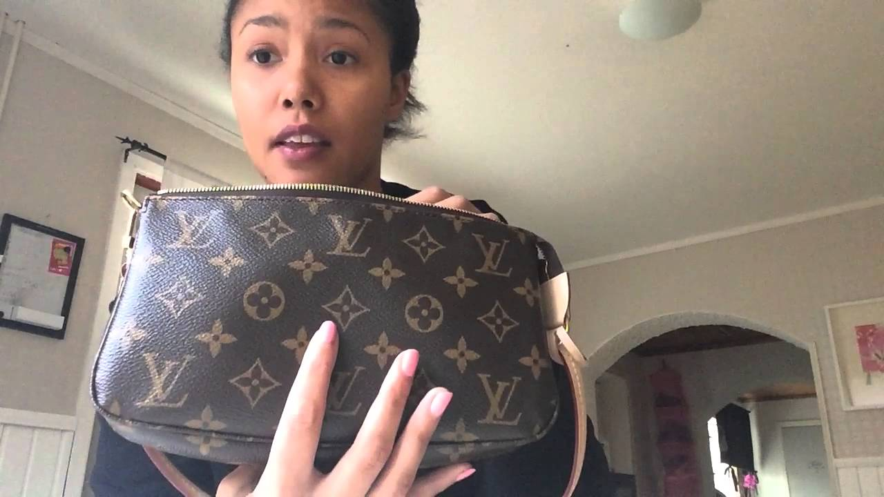 1d43348d4 Louis vuitton pochette nm with adjustable strap reveal - YouTube
