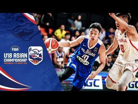 China v Philippines - Full Game - FIBA U18 Asian Championship 2018