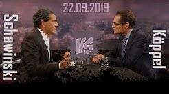 Roger Köppel (SVP) vs. Roger Schawinski | Radio 1 Doppelpunkt | 22.09.2019