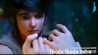 Tere khayalon se nikla nahi hoon main animated video love song
